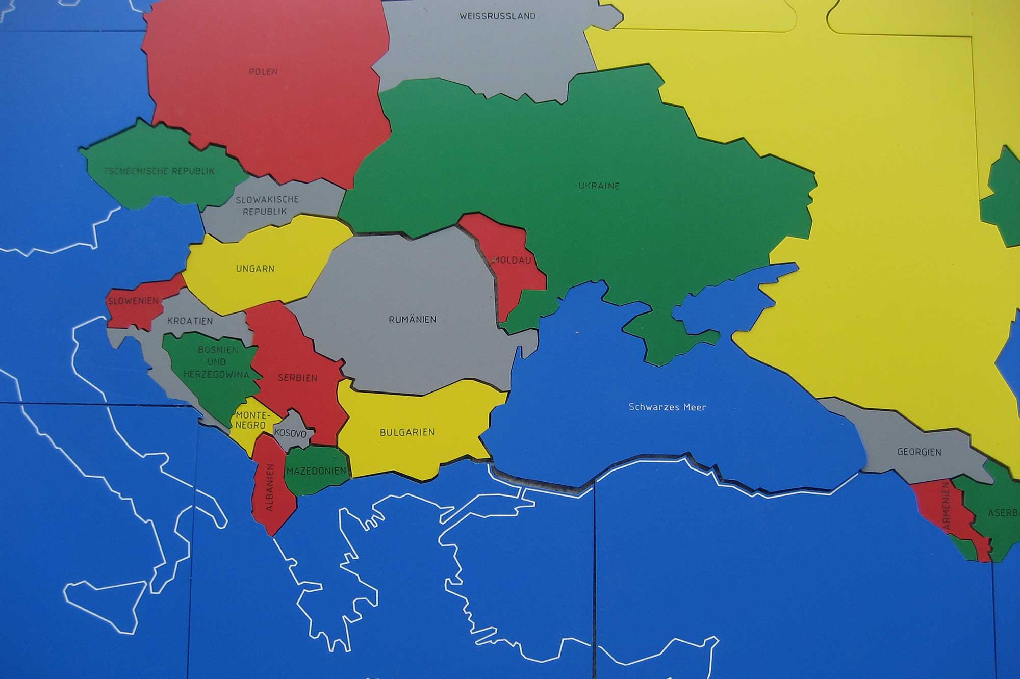 Renovabis-Puzzle Darstellung der Länder