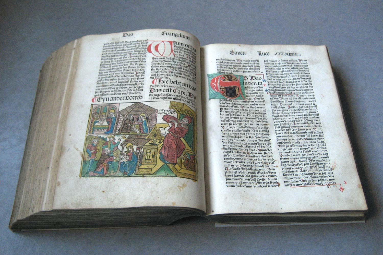 Die aufgeschlagene Bibel von 1485