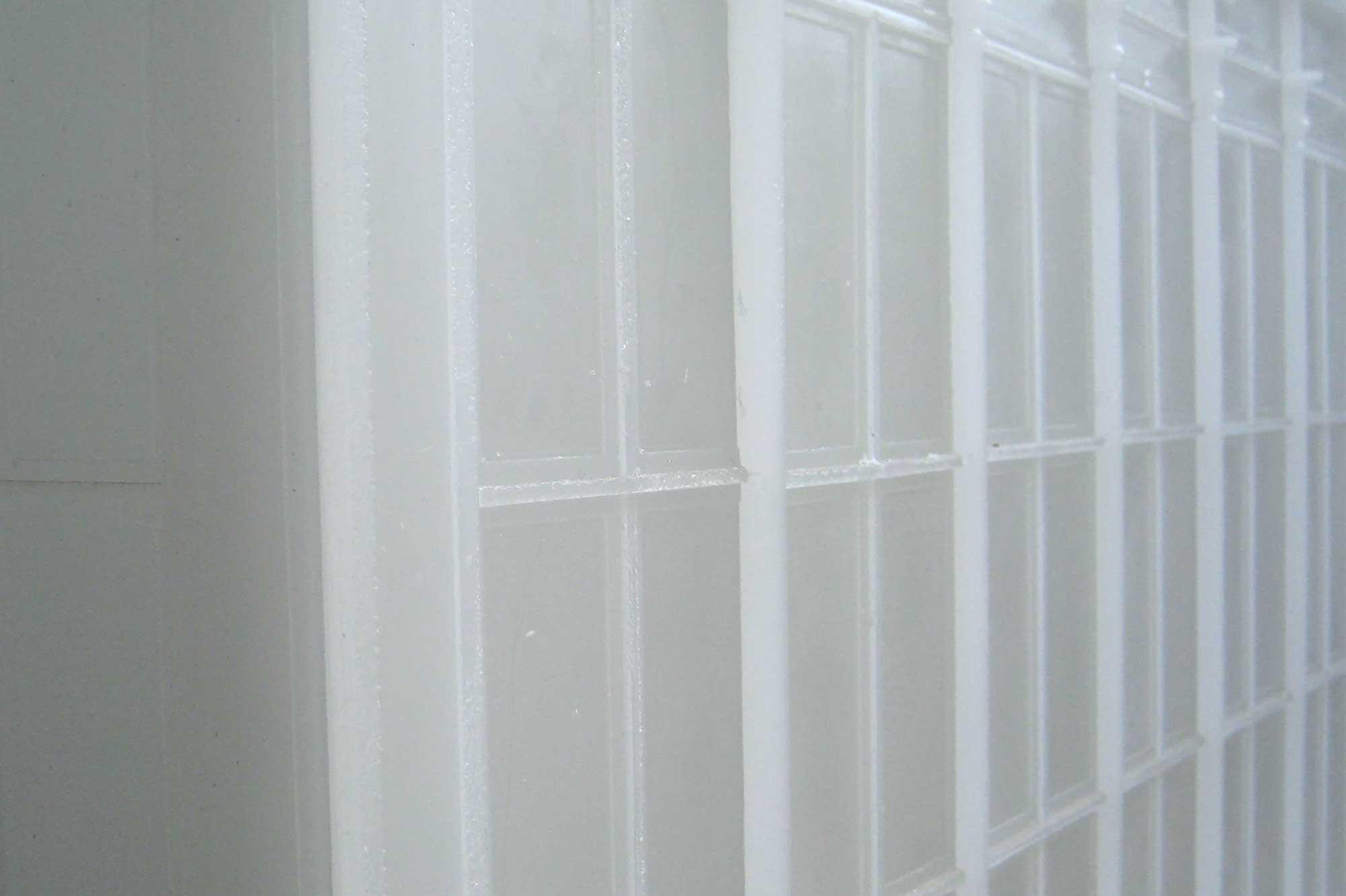 Anmutung der fertigen Fassade aus Wachs