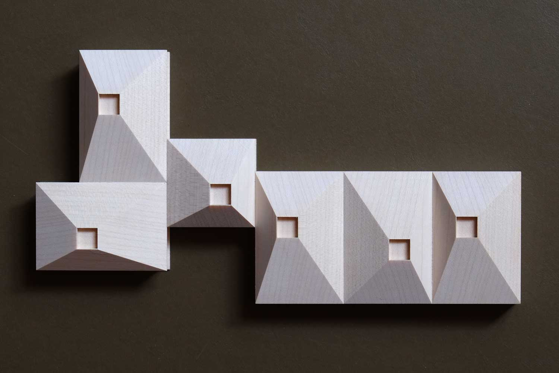 Wettbewerbsmodell aus Holz gefräßt, Kita Geretsried