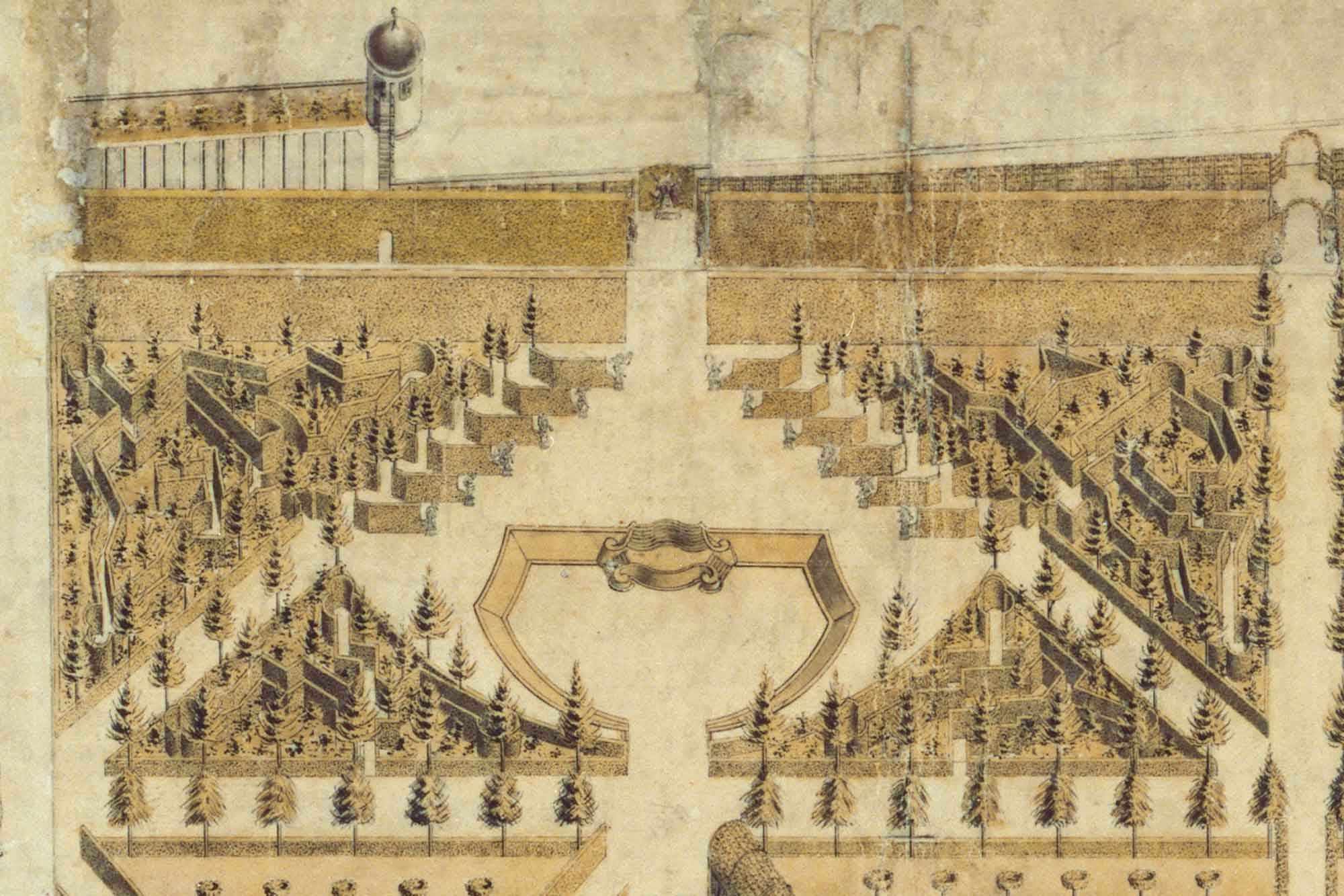 Historische Vorlage für das Heckentheater