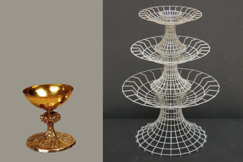 Objektcharakter: Kelch, 12. Jh und Brunnenskulptur im Modell