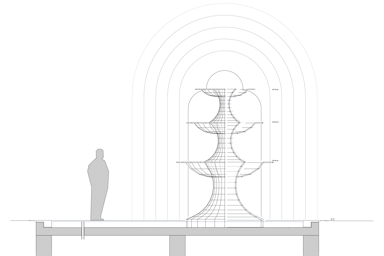 Kunst am Bau Brunnen Lage und Bezug