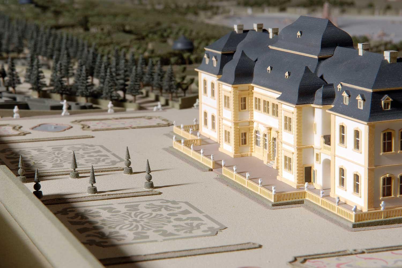 Modell Veitshöchheim historisch, Rückseite Schloss