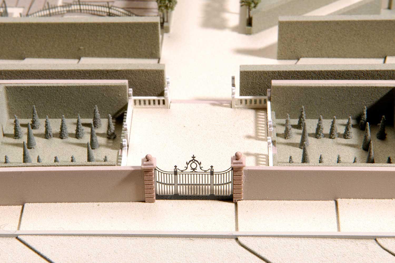 Gartenmodell Veitshöchheim historisch, Gittertor