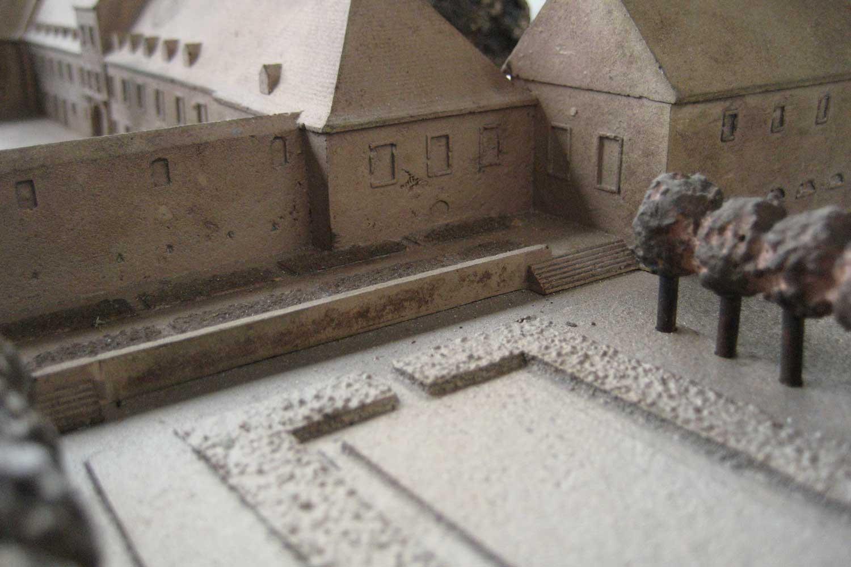 Tastmodell Schloss Bad Homburg, Detail