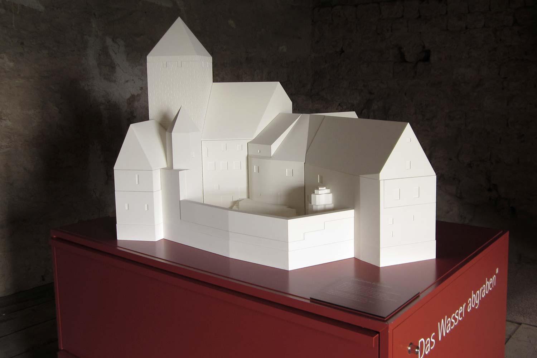 Modulares Modell der Burg Prunn