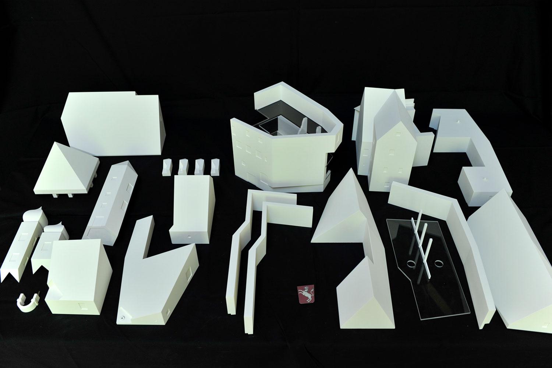 Elemente des mularen Modells der Burg Prunn