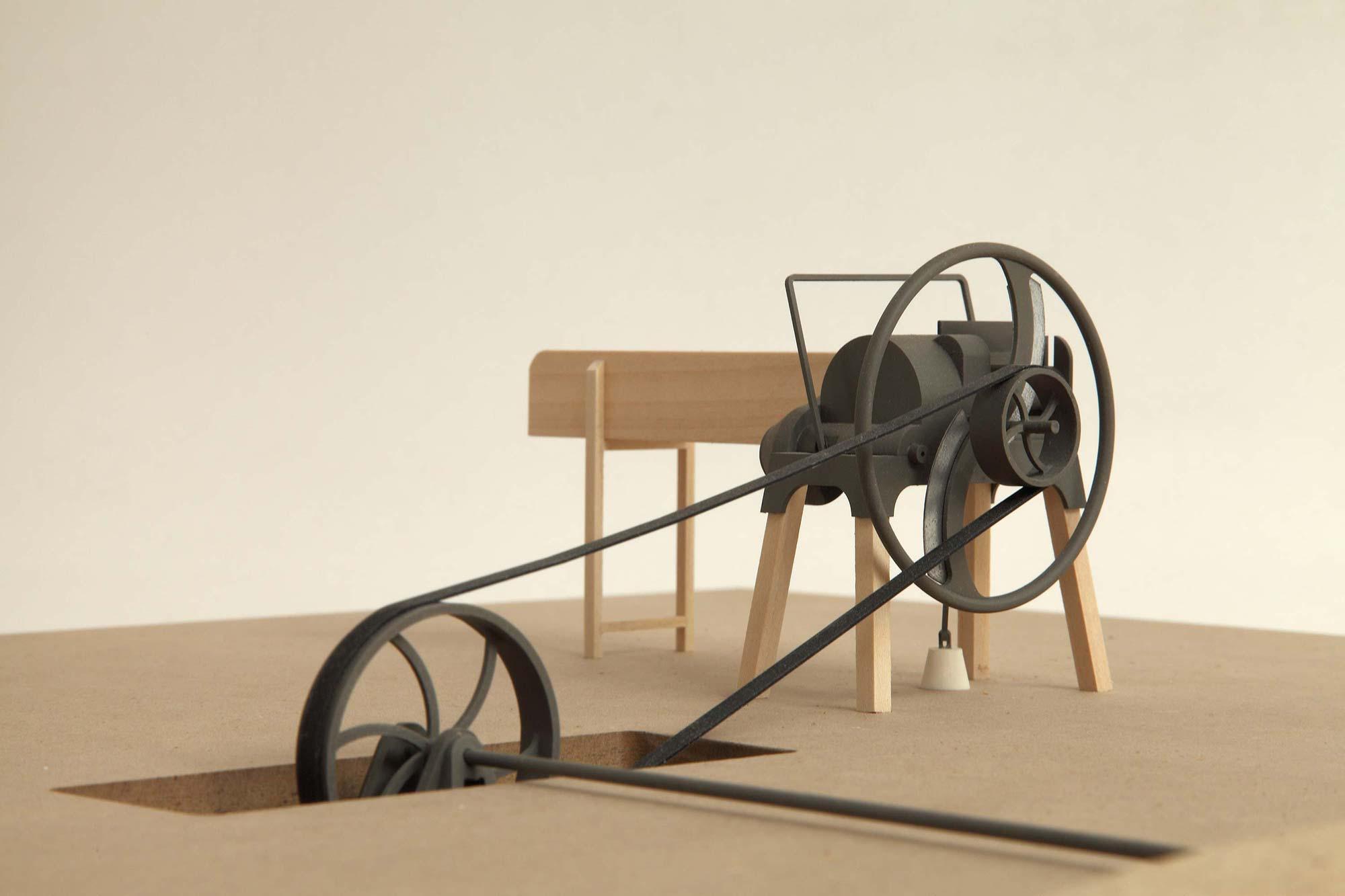 Modell der Häckselmaschine