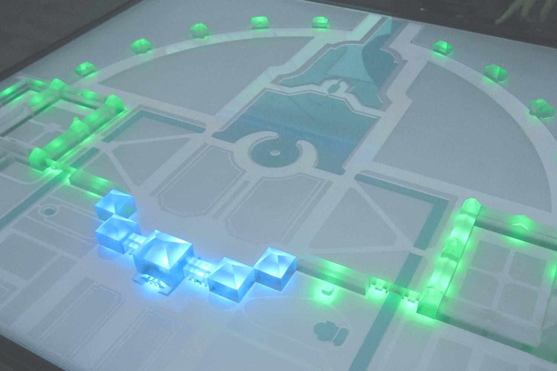 Beleuchtung im interaktiven Architekturmodell der Schlossanlage Nymphenburg