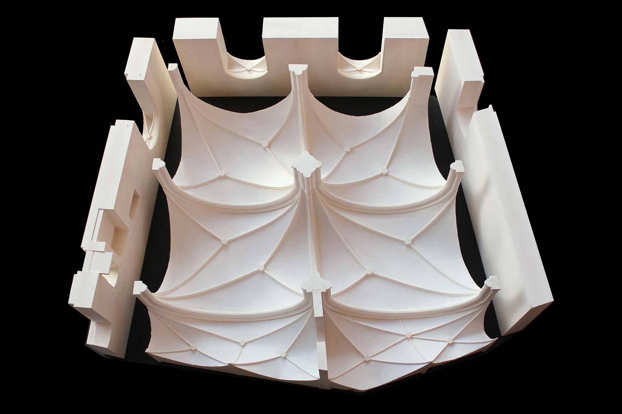 Architekturmodell Rekonstruktion Gewölbe Erkersaal Cadolzburg Untersicht