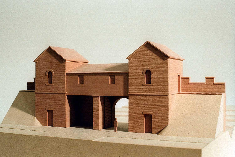 Modell Römertore Ansicht von innen