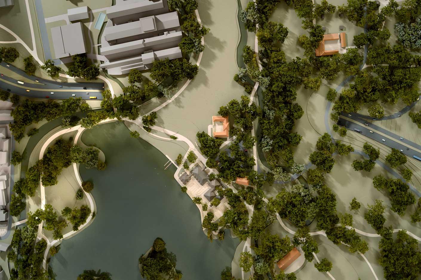 Der Kleinhesseloher See bildet nicht das Ende des südlichen Gartenteils