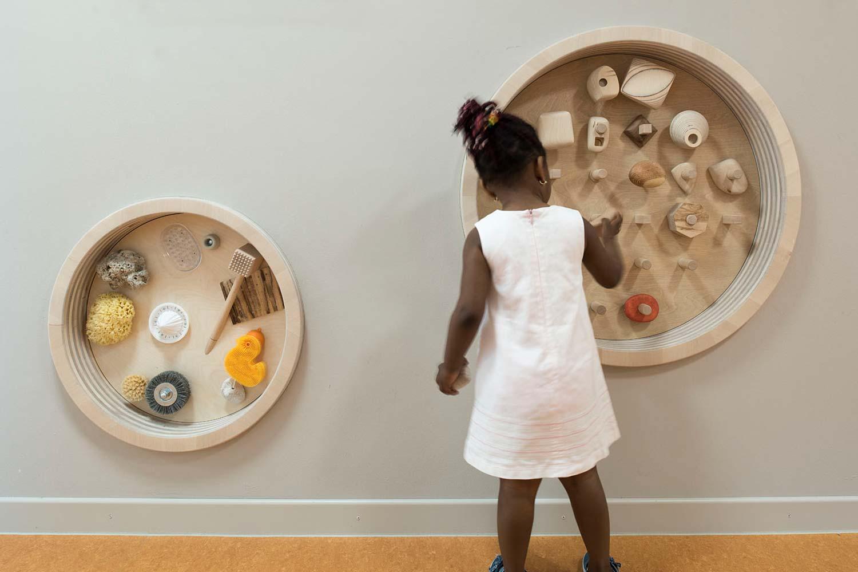 Spielobjekte, Kinderkrippe Hans-Goltz-Weg | Kunst am Bau von sehen und verstehen
