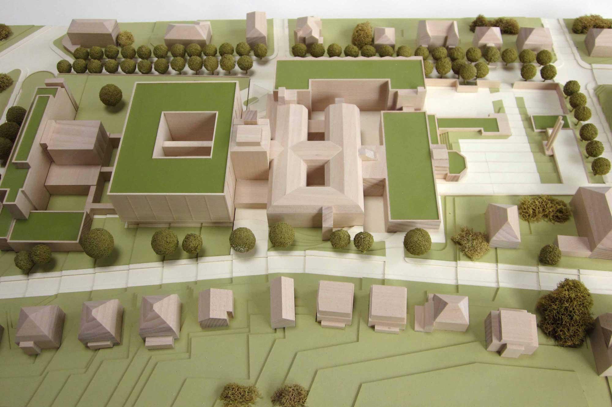 Modell des Klinikum Wiesbaden Zustand A