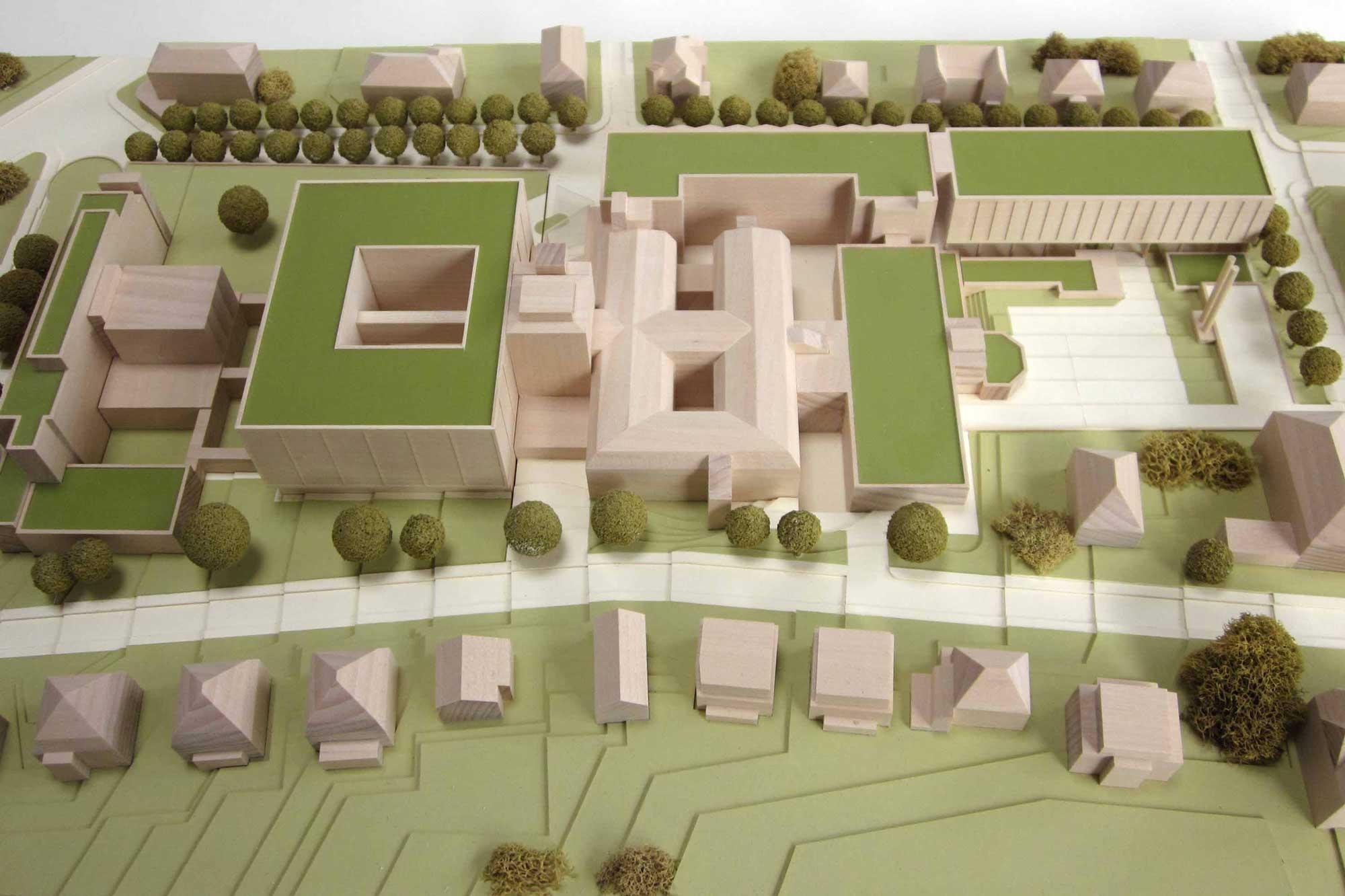 Modell des Klinikum Wiesbaden
