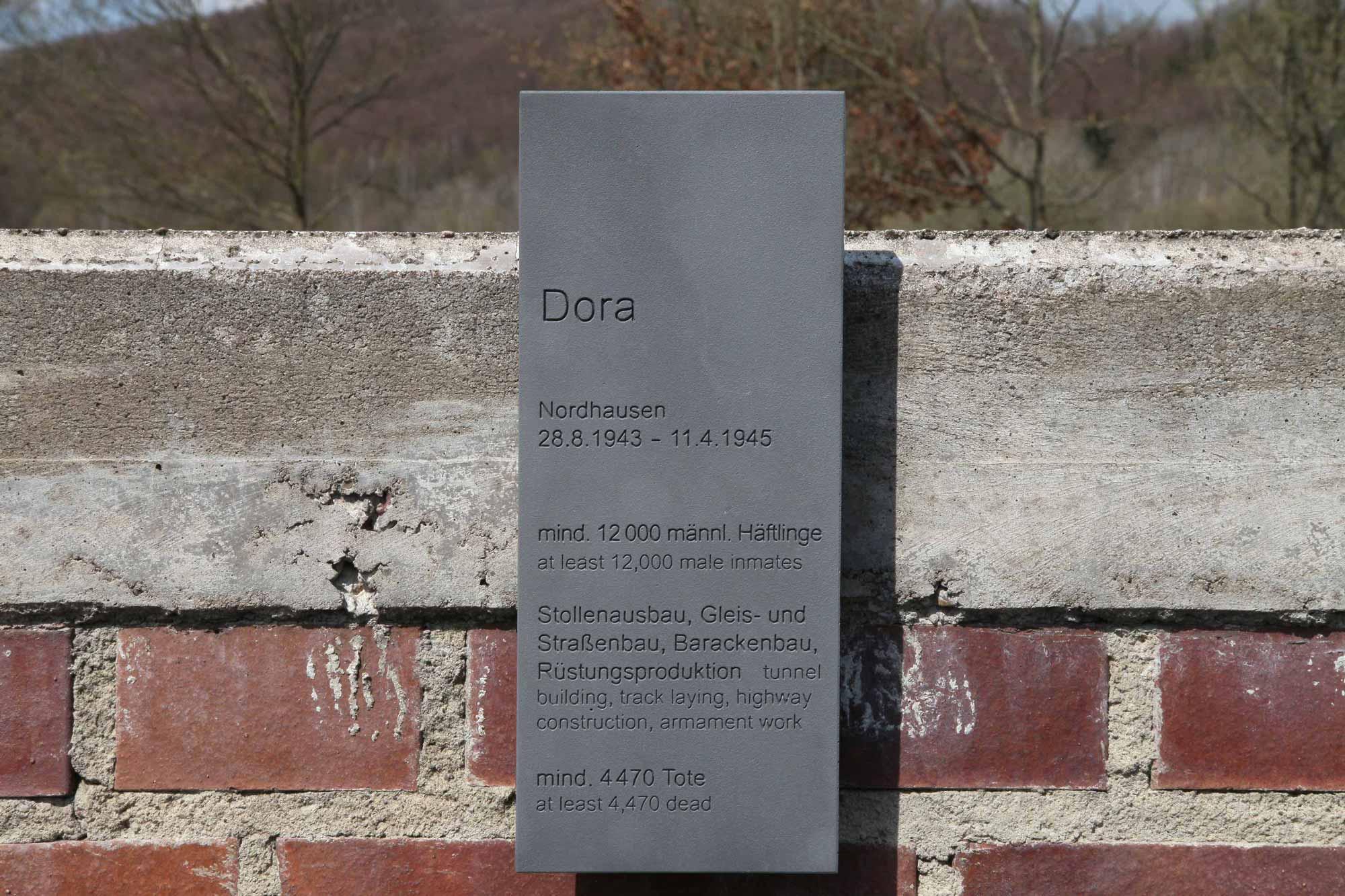 Station Dora auf dem Weg der Erinnerung