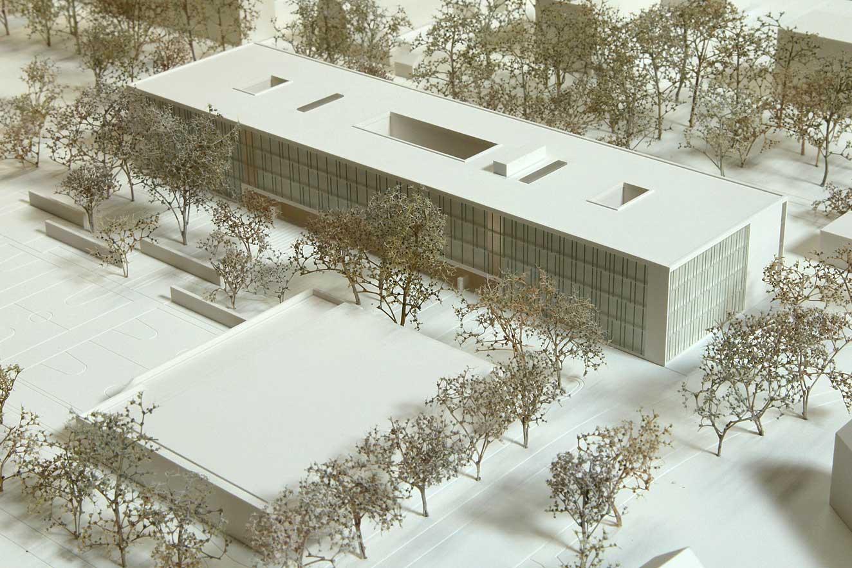 Präsentationsmodell Schule Bernaysstraße - Modellbau Architektur - Architekturmodell