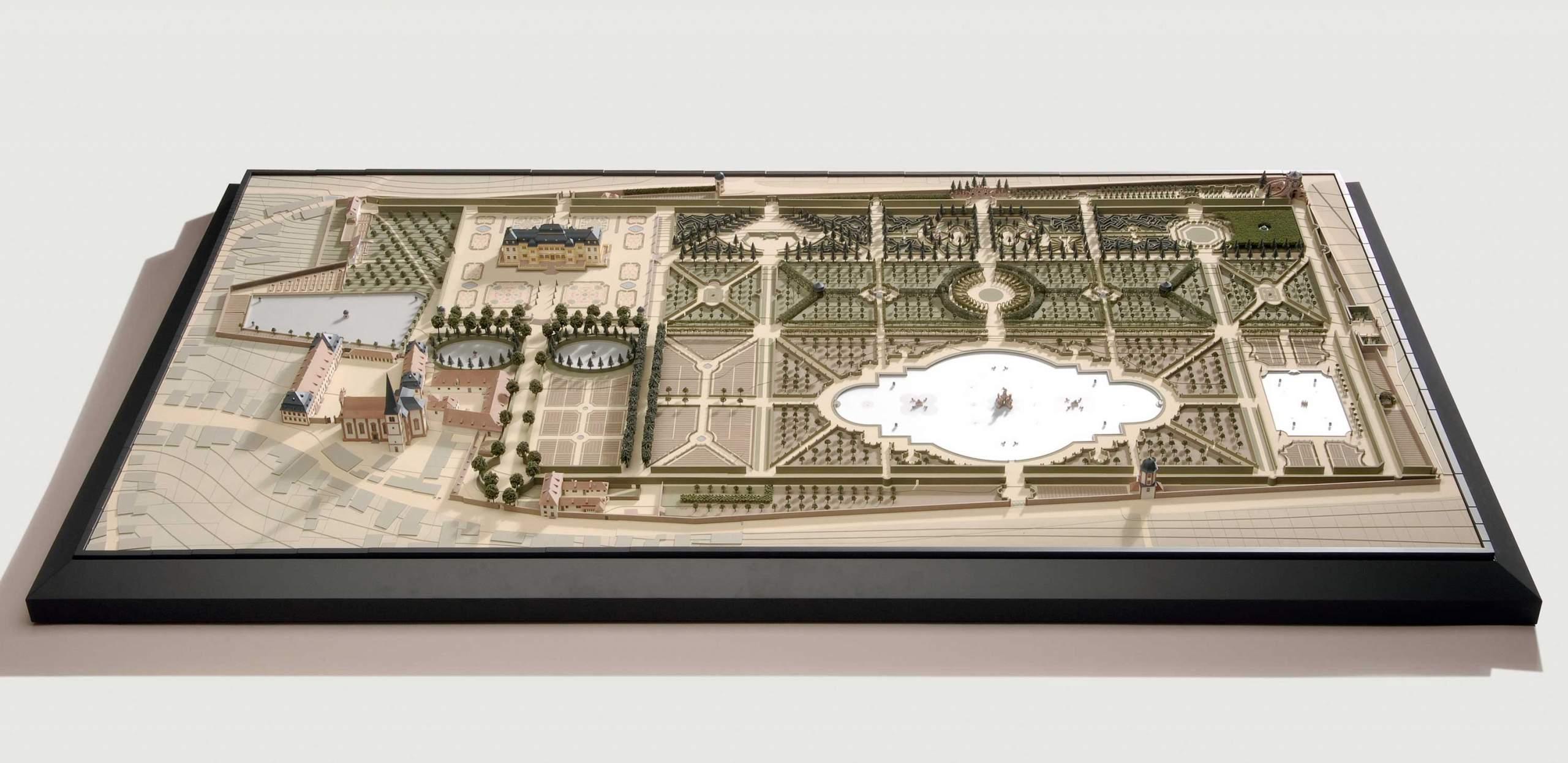Gartenmodell Veitshöchheim historisch - Architekturmodell - Modellbau Architektur