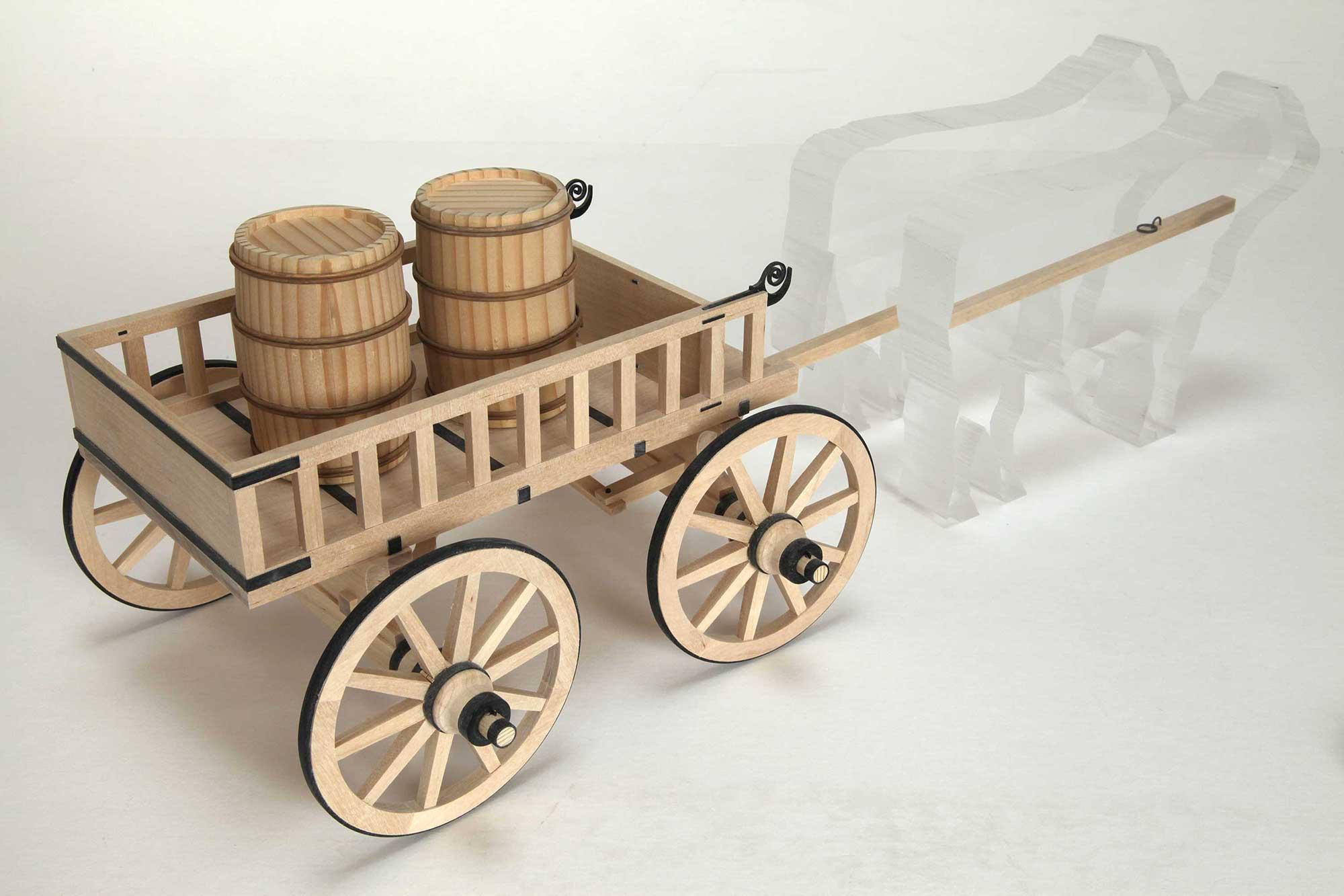 Anschauungsmodell Römerwagen - unterwegs