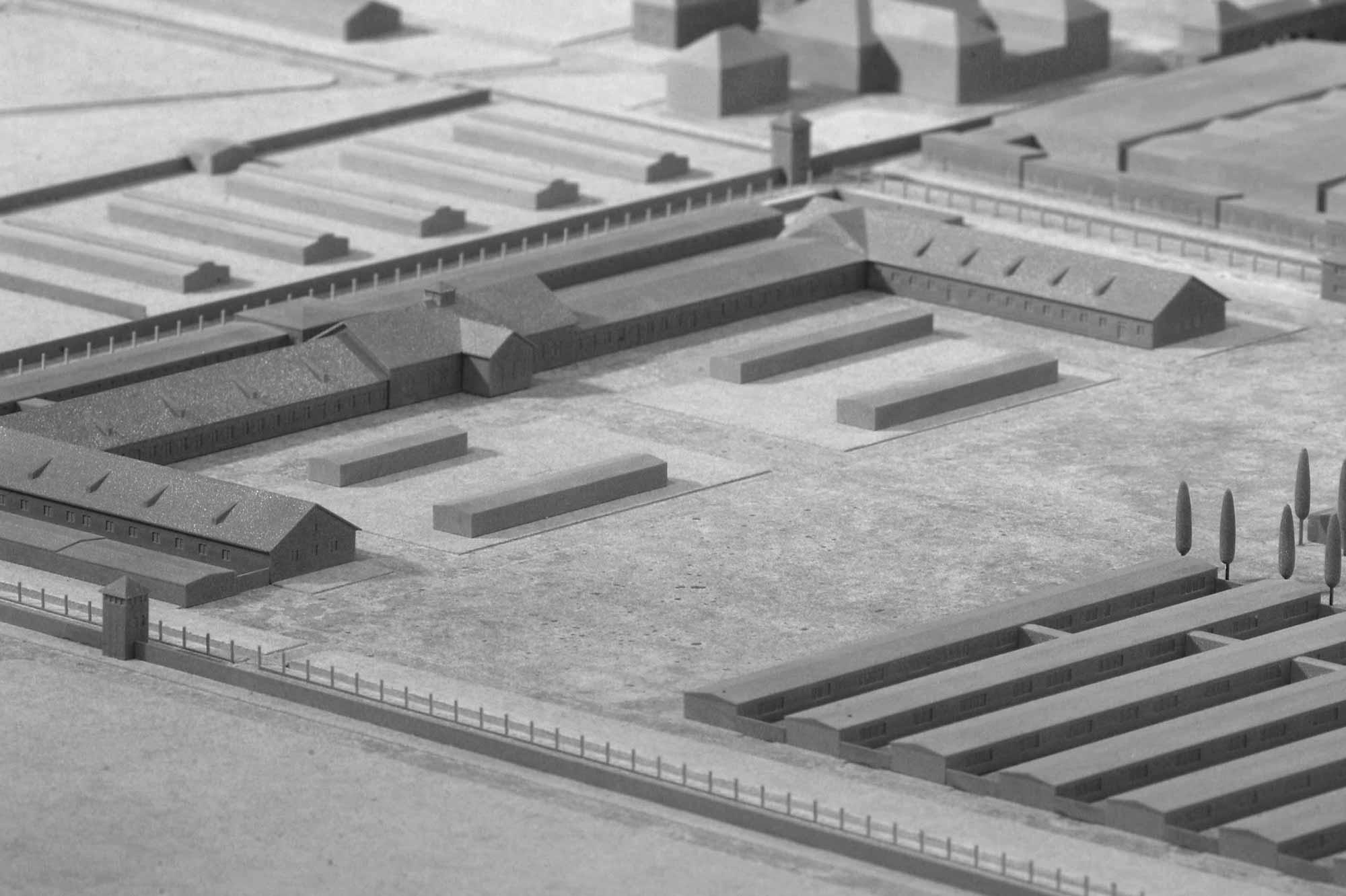 Modell KZ Dachau, das Häftlingslager
