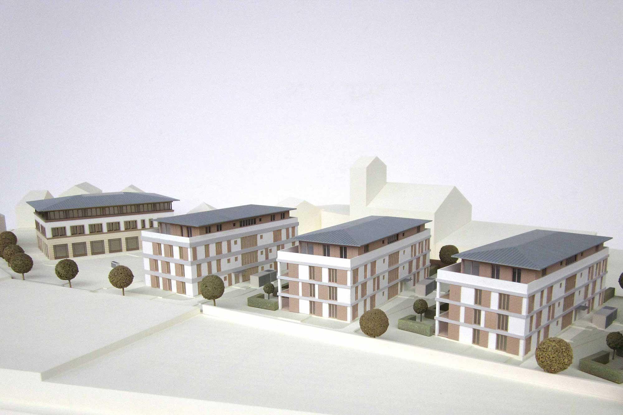 Präsentationsmodell Immobilienprojekt Holzkirchen
