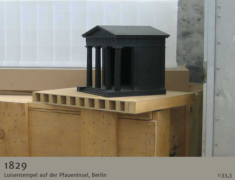 Architekturmodell Luisentempel Pfaueninsel Berlin