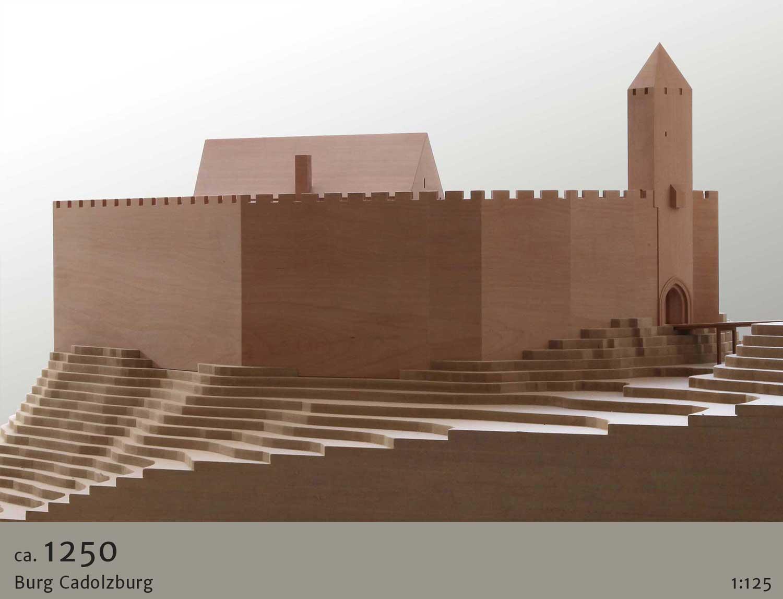 Architekturmodell Burg Cadolzburg um 1250