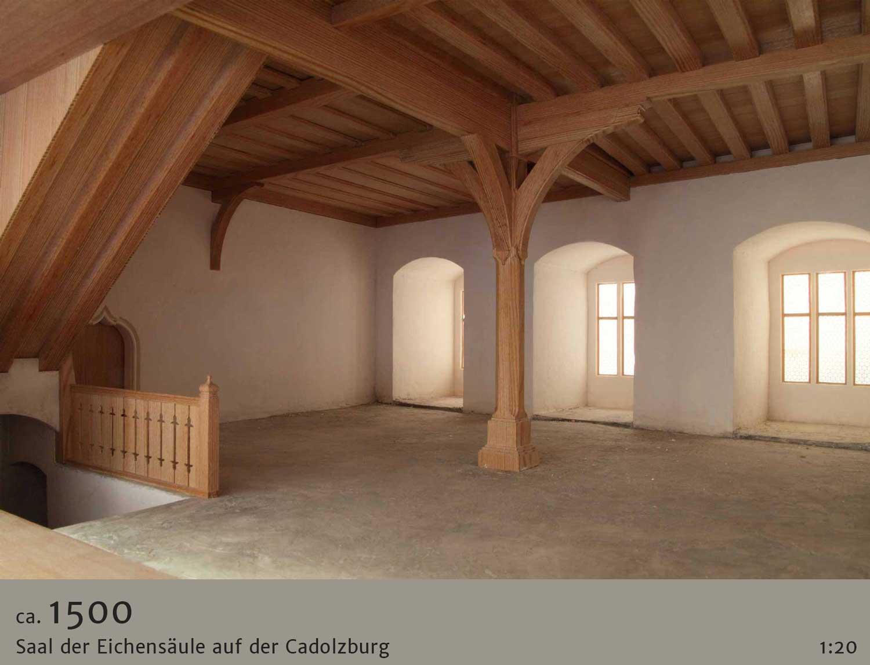 Architekturmodell Eichensäulensaal Cadolzburg