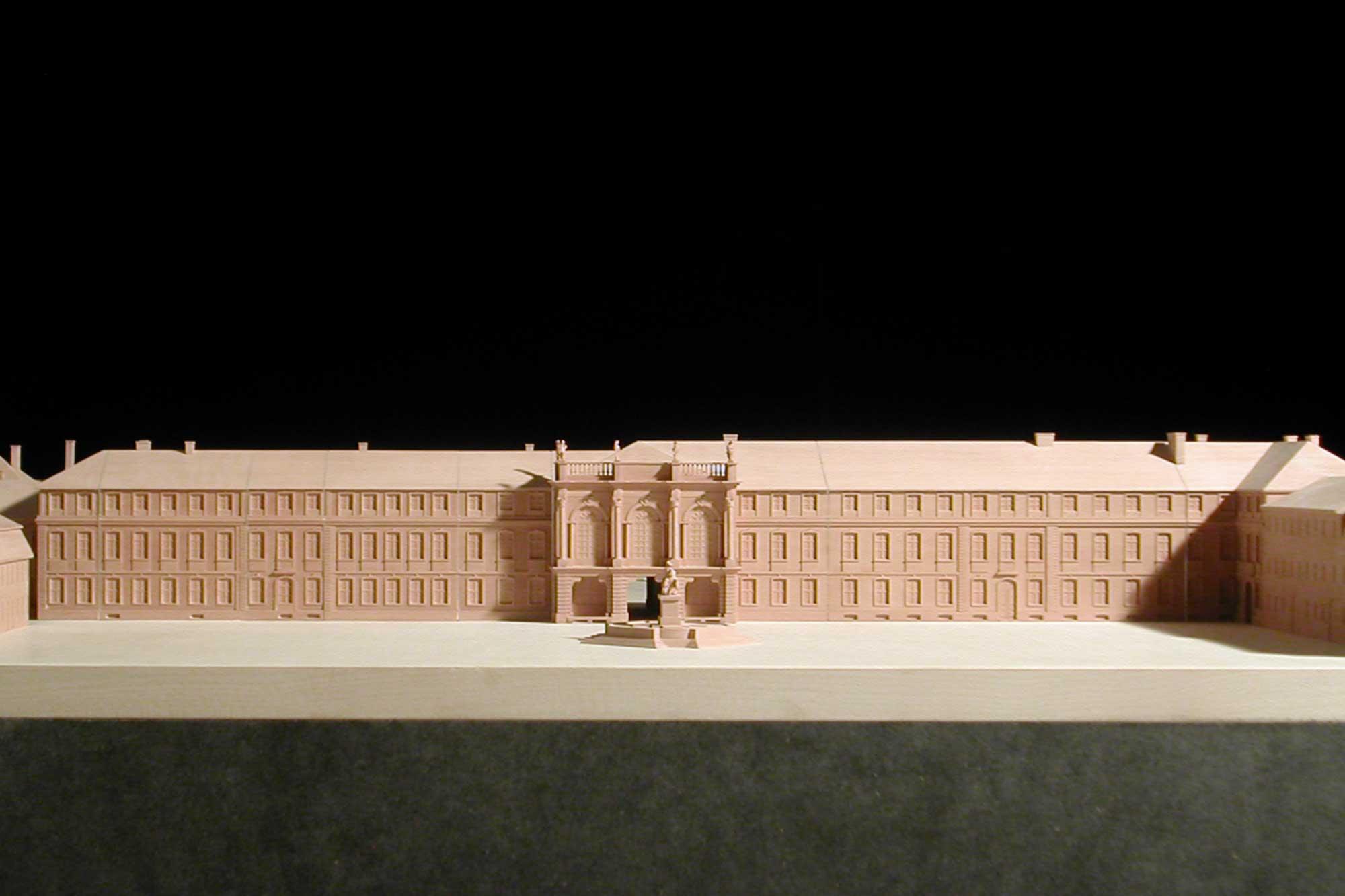Modell Neues Schloss Bayreuth Ansicht Haupteingang