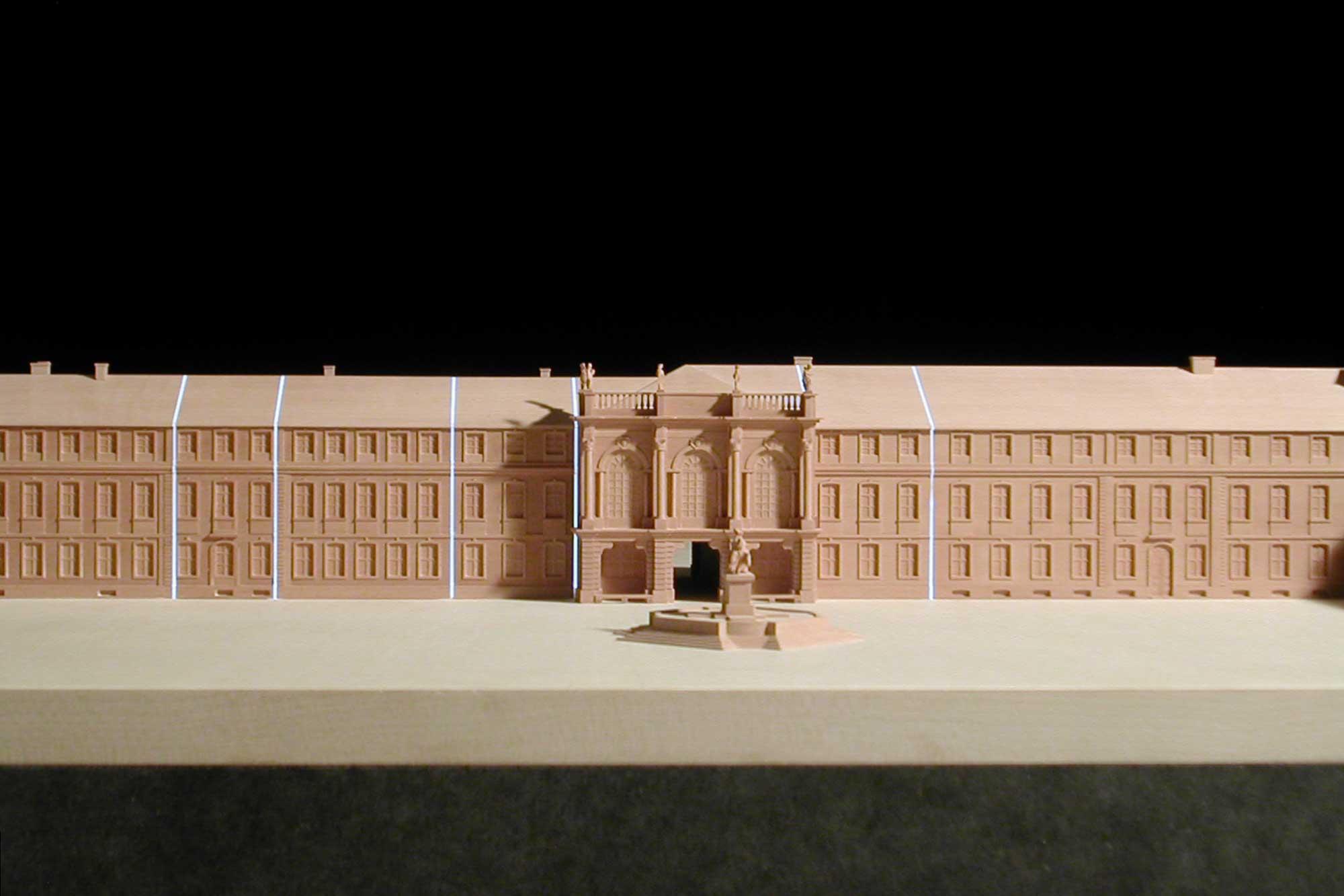 Modell Neues Schloss Bayreuth Bauabschnitte