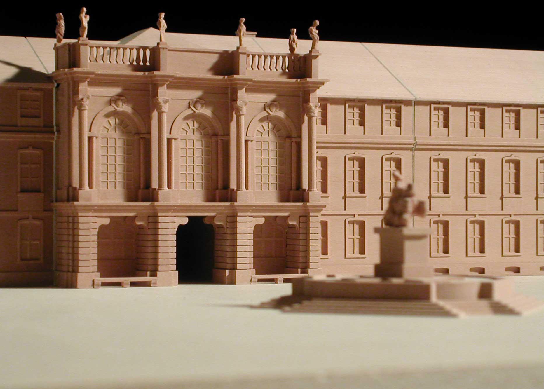 Modell Neues Schloss Bayreuth Detail Portal