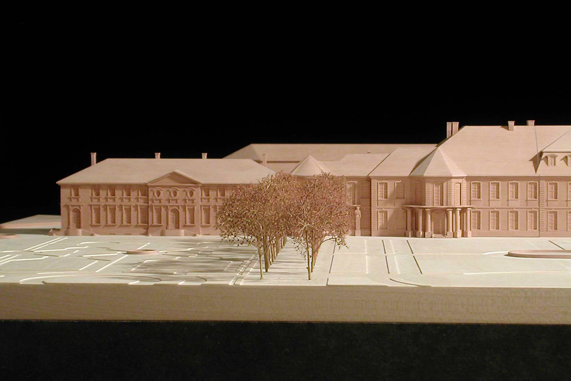 Modell Neues Schloss Bayreuth Linker Flügel