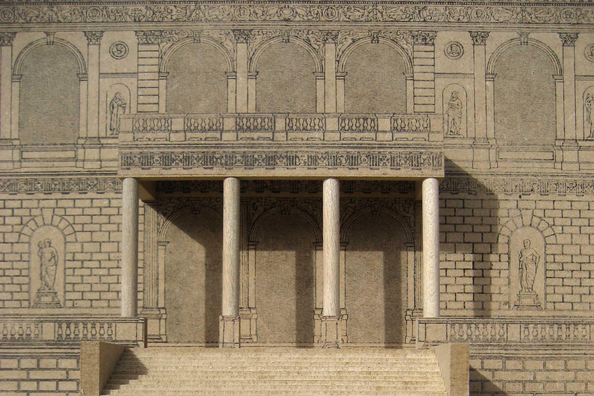 Architekturmodell der Akademie der Bildenden Künste München - Zugang