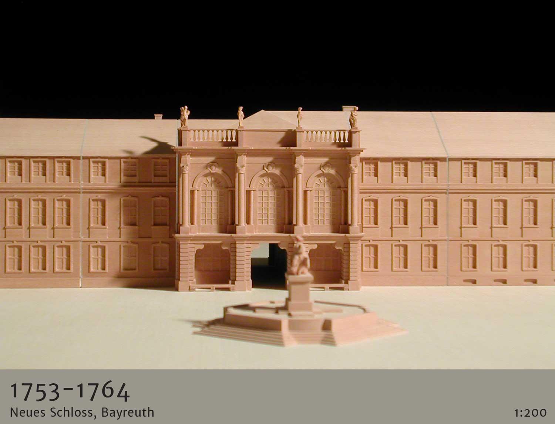 architekturmodelle historische epochen 1753 Neues Schloss Bayreuth