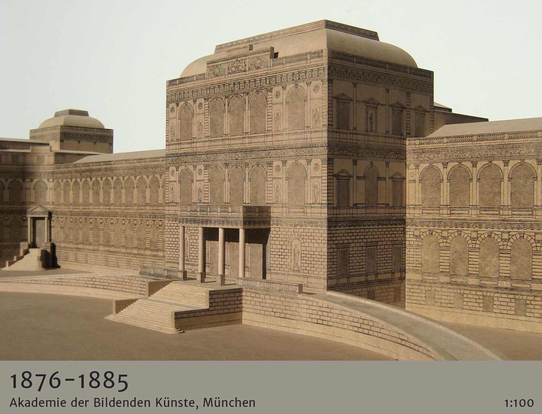 architekturmodelle historische epochen 1876 Akademie der Bildenden Künste München