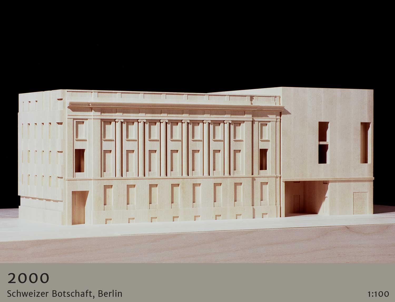 architekturmodelle historische epochen 2000 Jahre - Schweizer Botschaft Berlin