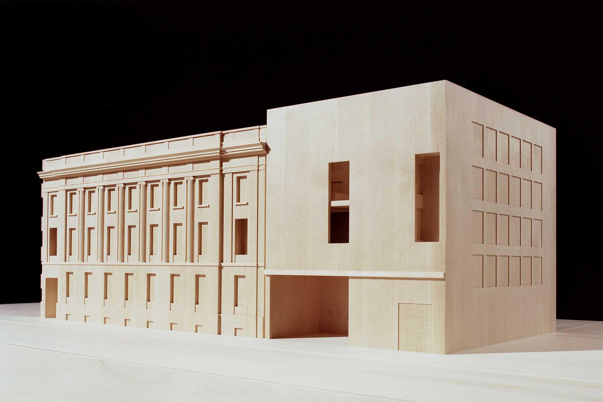 Modell der Schweizer Botschaft Berlin - Eingangssituation