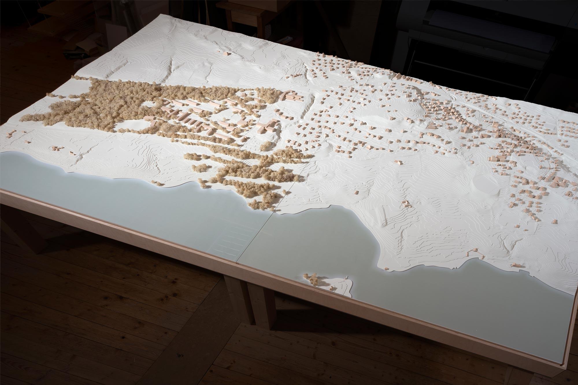 Topografisches Modell Feldafing - Umgriff