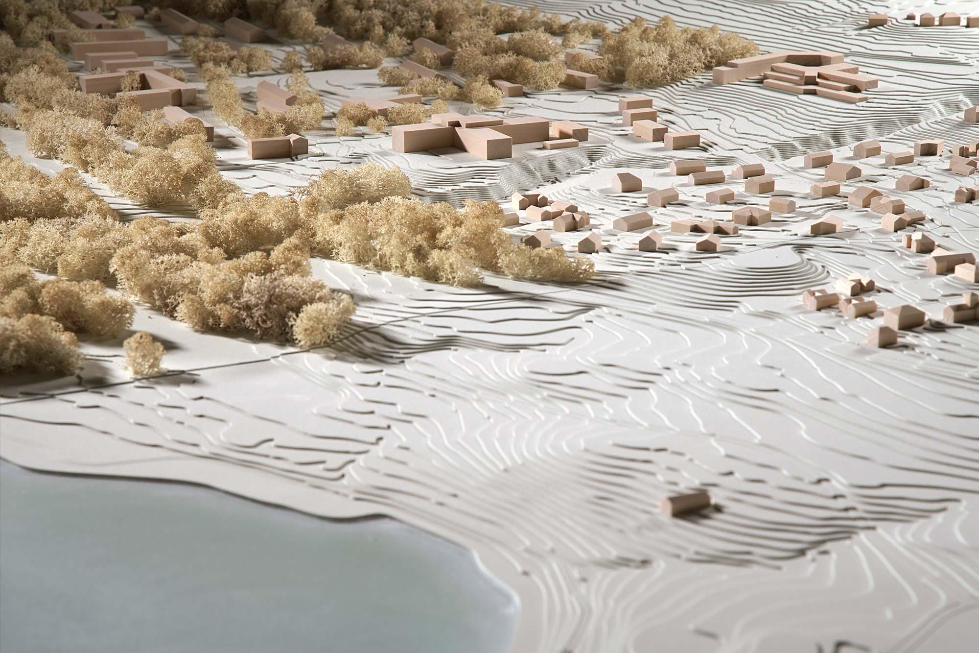 Topografisches Modell Feldafing - Ausschnitt Landschaft