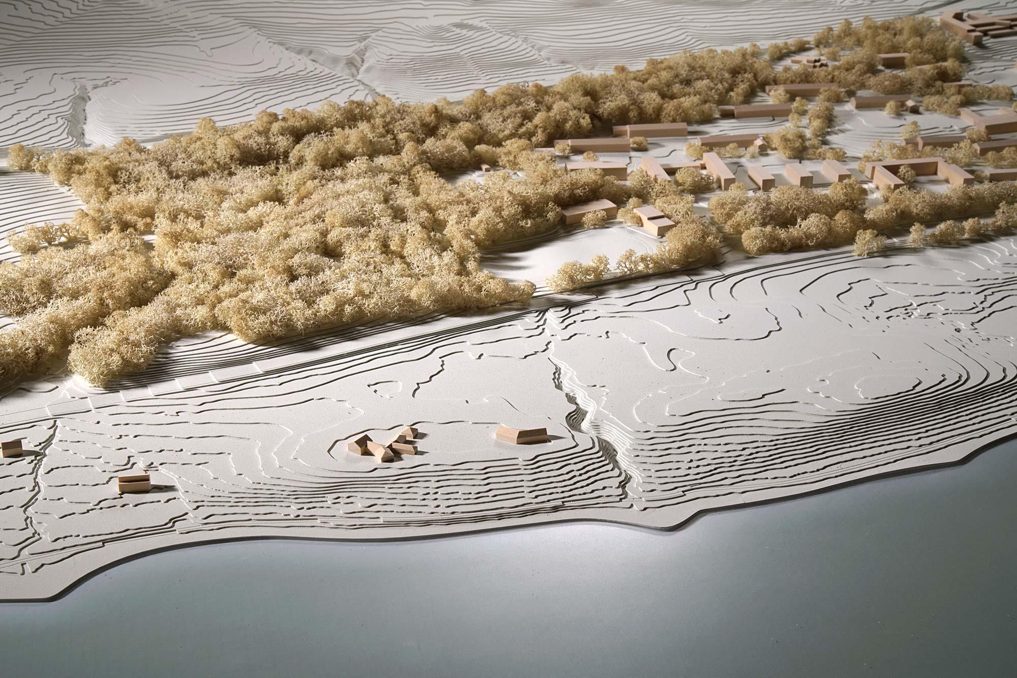 Modell des Ufers bei Feldafing