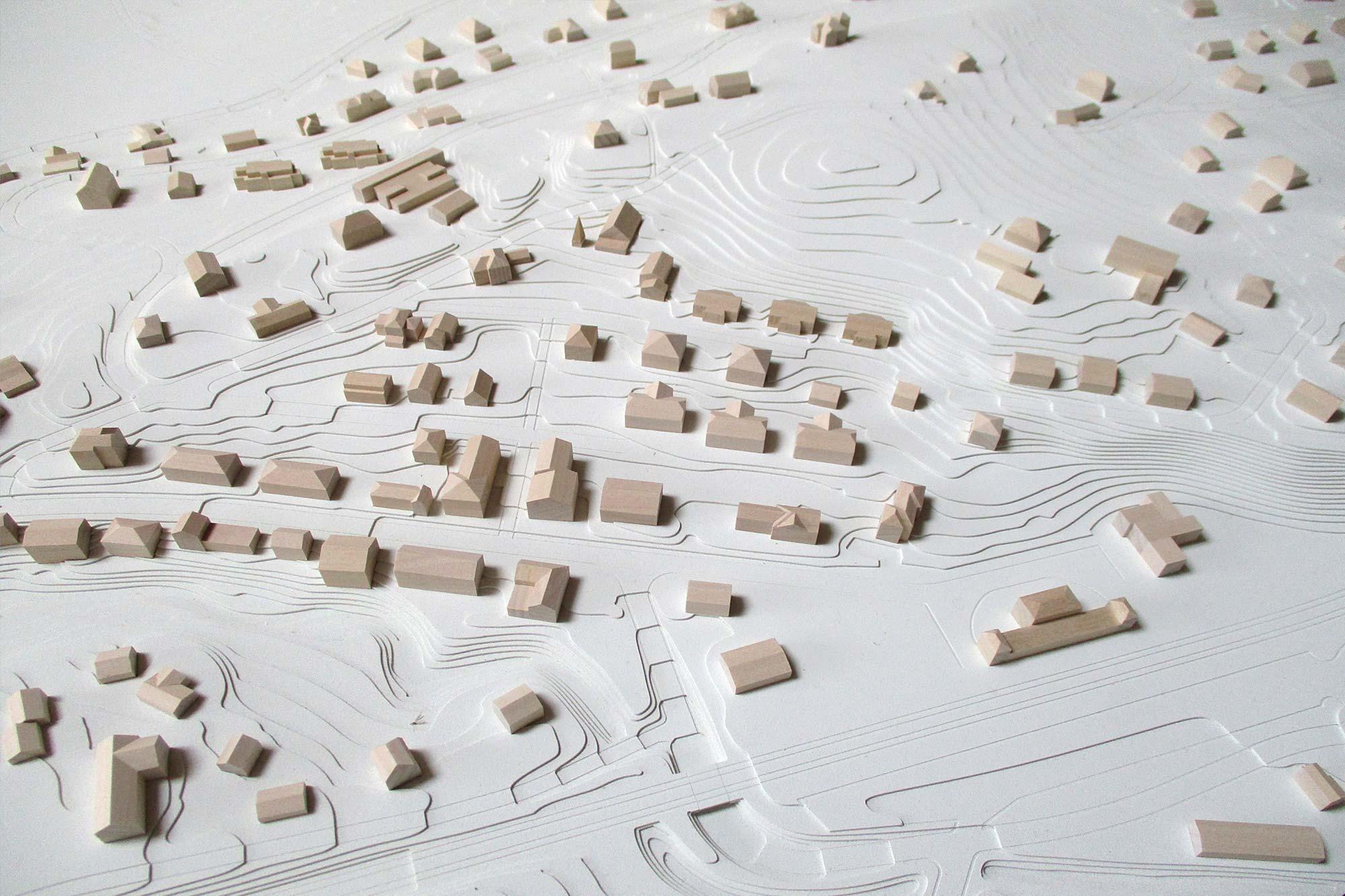 Topografisches Modell Feldafing - Detail