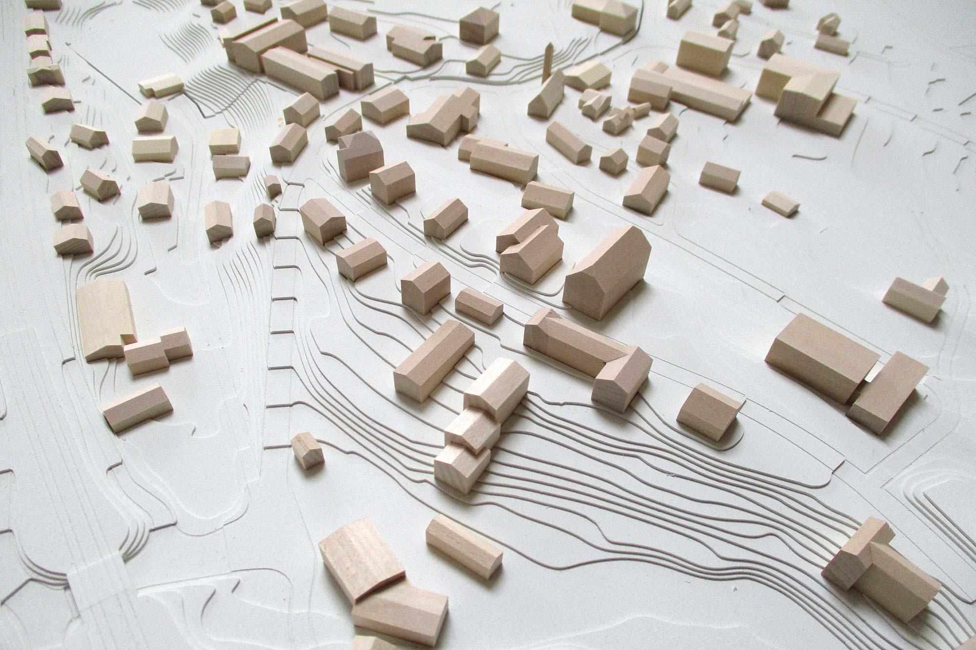Topografisches Modell Feldafing - Kirche