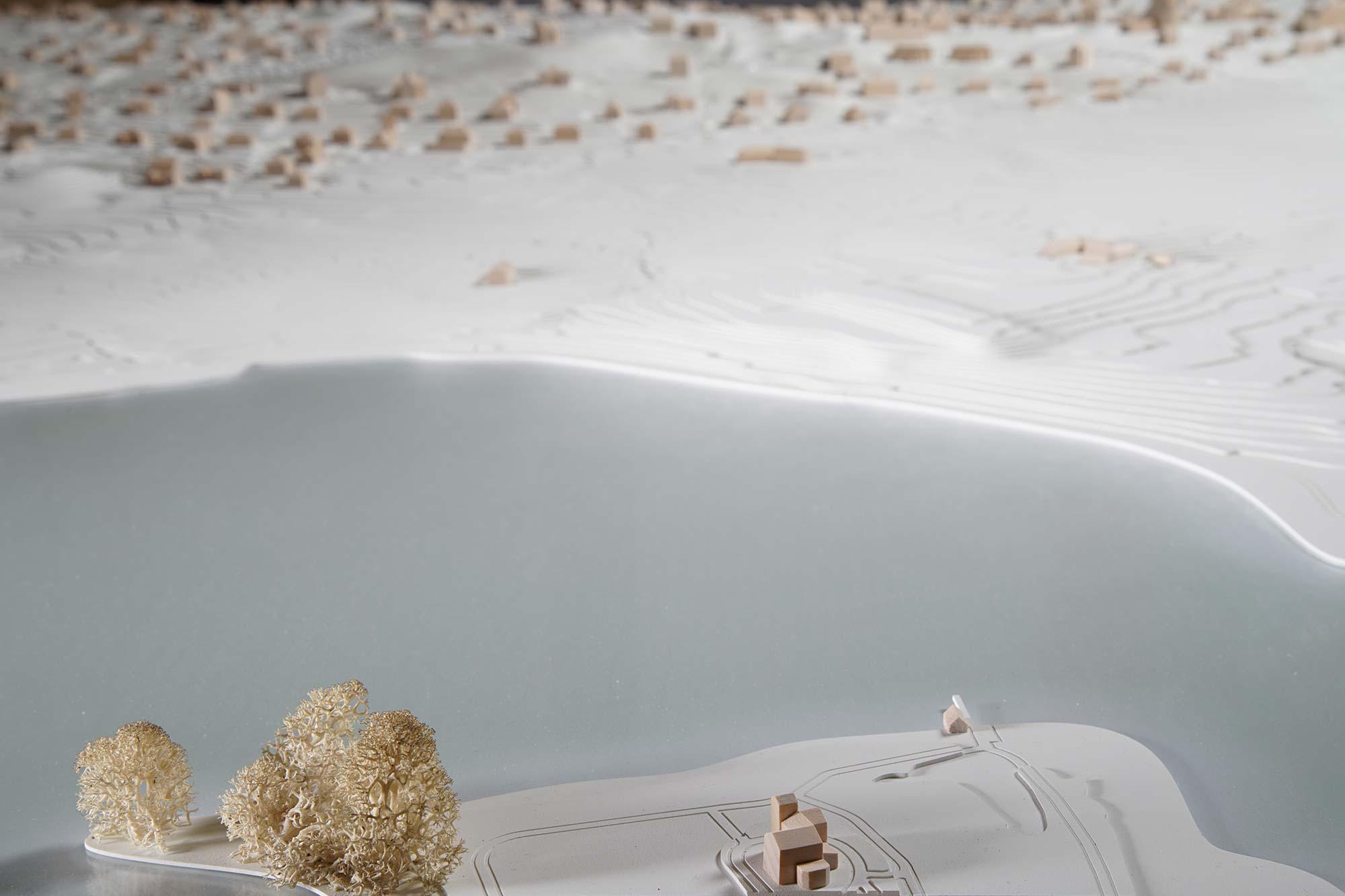 Topografisches Modell Feldafing - Seeufer mit Roseninsel