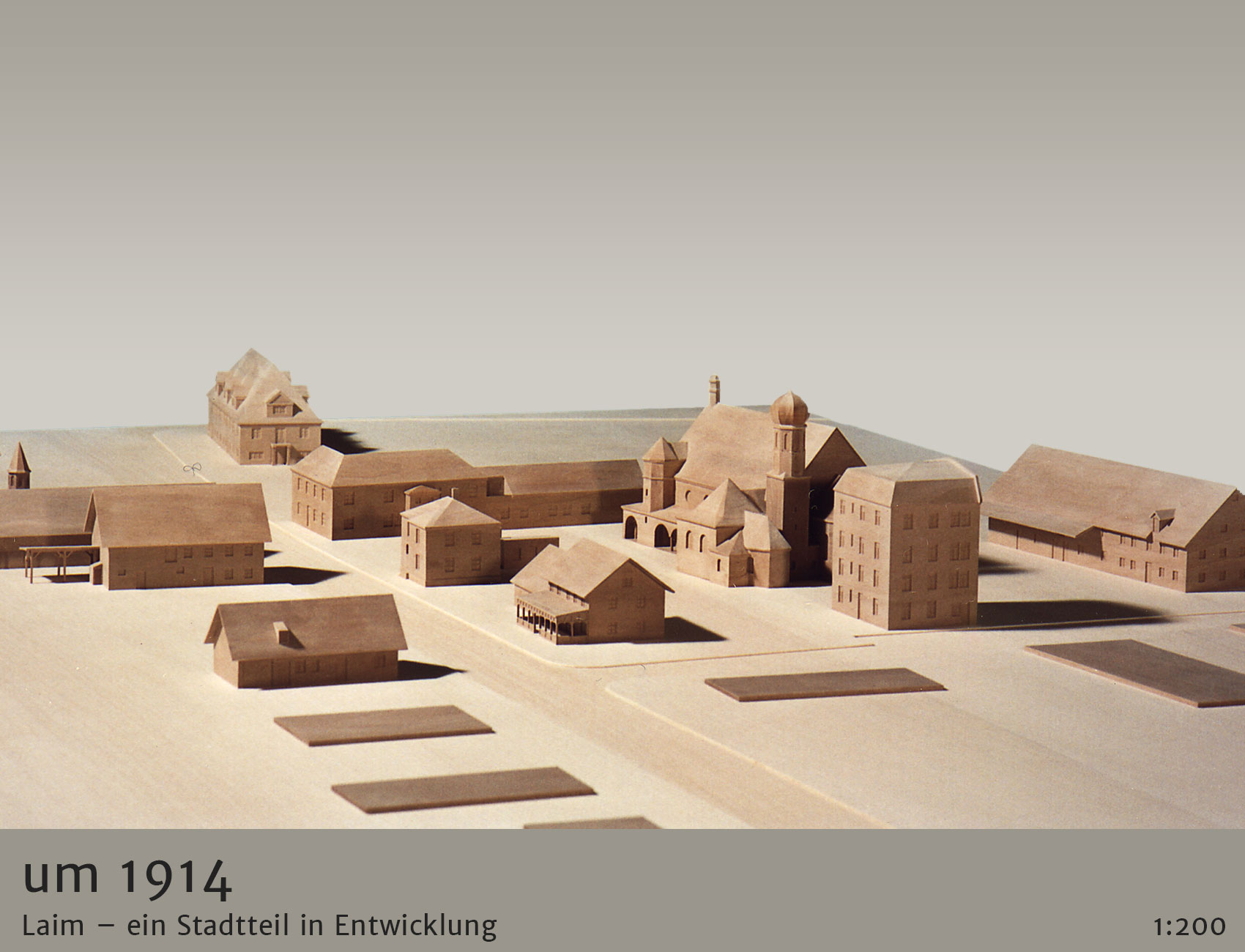 Architekturmodell Stadtentwicklung Laim 1914